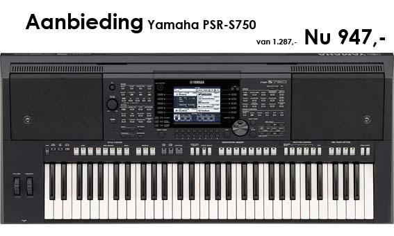 aanbieding Yamaha PSR-S750