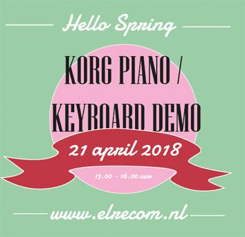 Korg Piano en Keyboard demo 21 april 2018